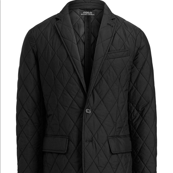 672a440d Polo Ralph Lauren Men's Black Quilted Sport Coat NWT